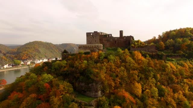 castle rheinfels - river rhine stock videos and b-roll footage