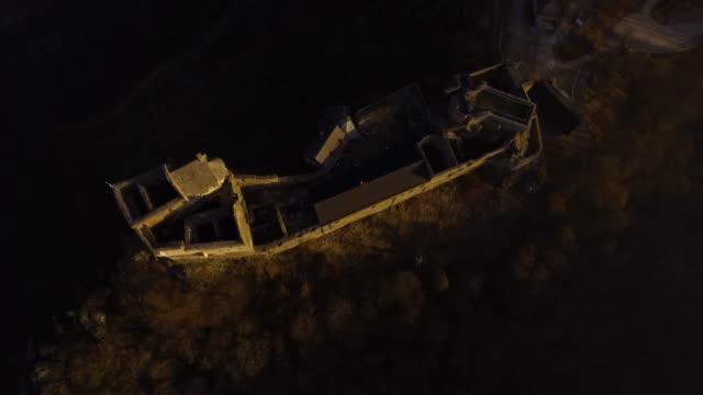Castle Ruins of Aggstein - Wachau (aerial shot 4K)