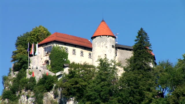 hd: castle - lake bled stock videos & royalty-free footage