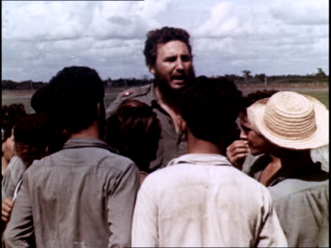 castro surrounded by farmers begins to enact land reforms - communism stock videos & royalty-free footage
