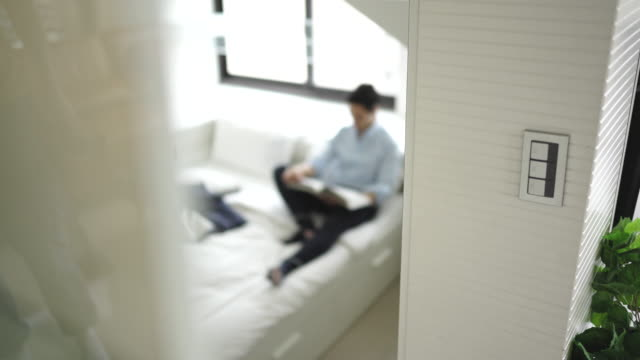casual day at home - loft apartment stock videos & royalty-free footage
