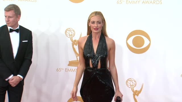 cat deeley at 65th annual primetime emmy awards arrivals on 9/22/2013 in los angeles ca - annual primetime emmy awards stock-videos und b-roll-filmmaterial