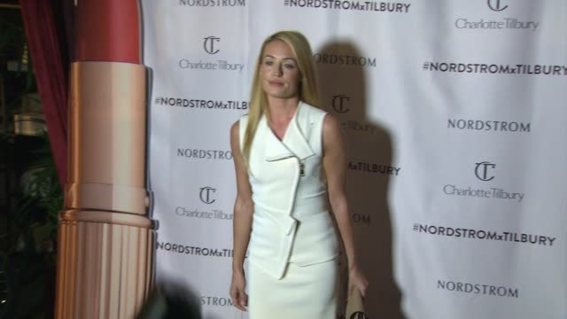 cat deeley at nordstrom presents: charlotte tilbury's 'makeup your destiny' beauty festival at nordstrom at the grove on october 09, 2014 in los... - nordstrom stock videos & royalty-free footage
