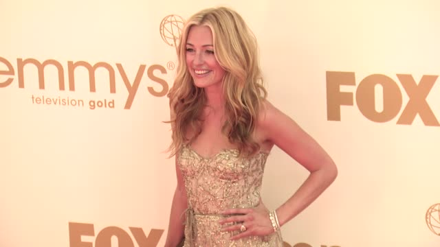cat deeley at the 63rd primetime emmy awards arrivals part 1 at los angeles ca - エミー賞点の映像素材/bロール