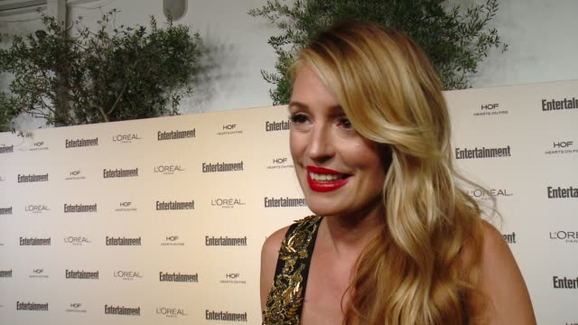 interview cat deeley on favorite television moments from this past season and on what entertainment weekly means to them at entertainment weekly's... - entertainment weekly stock videos & royalty-free footage