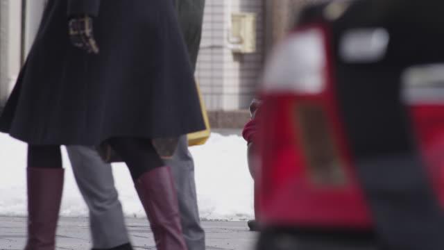 cat statue in the streets of asahikawa, japan - asahikawa stock videos & royalty-free footage
