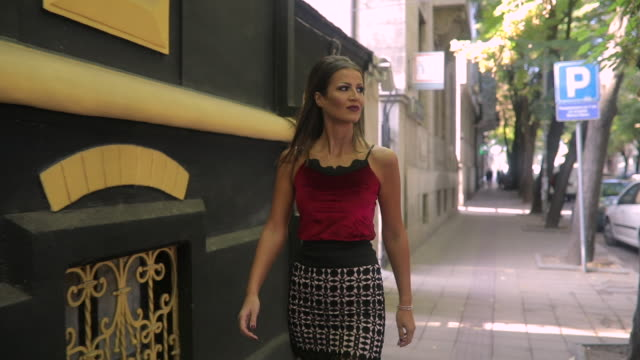cat walk on the street - skirt stock videos & royalty-free footage