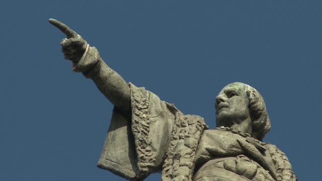 catalan separatists preparing for a key vote this weekend are bringing all the big guns they can muster into the campaign with some even claiming the... - christopher columbus explorer stock videos & royalty-free footage
