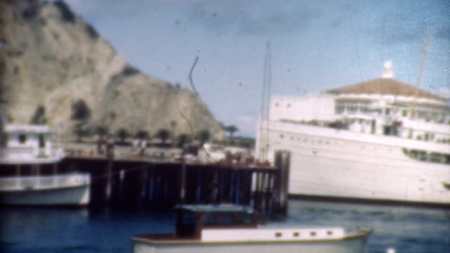 catalina harbor and cruise ship 1930's. - 1900 stock videos & royalty-free footage