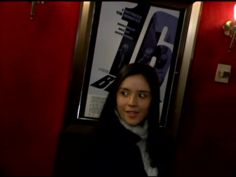 Catalina Sandivo Moreno at the '16 Blocks' New York Premiere at the Ziegfeld Theatre in New York New York on February 27 2006