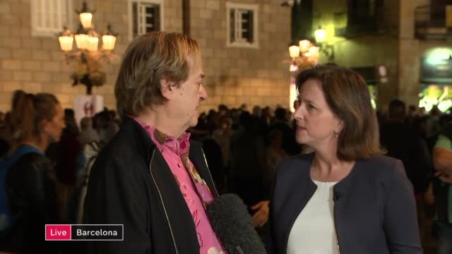 Deposed Catalan president calls for peaceful resistance to direct rule LIVE SPAIN Catalonia Barcelona Ventura Pons interview SOT