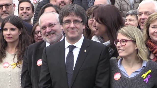 Catalonia's deposed leader Carles Puigdemont launches his campaign for regional elections in the Belgian town of Oostkamp