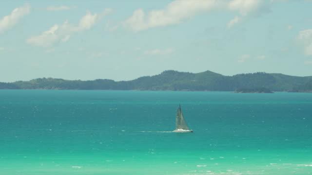 A catamaran in the Whitsunday Islands