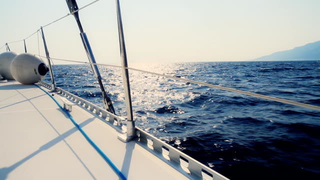 HD DOLLY: Catamaran Sailing In The Sea