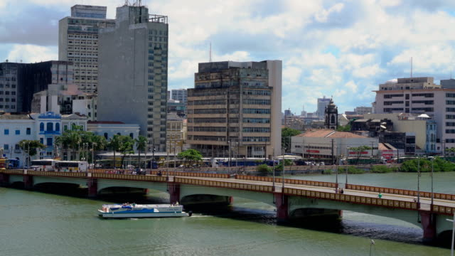 catamaran (a boat ride on the capibaribe river) - recife stock videos and b-roll footage