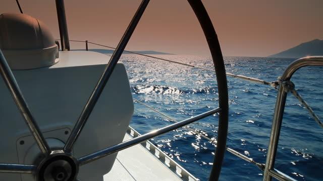 hd: catamaran's helm - helm stock videos and b-roll footage
