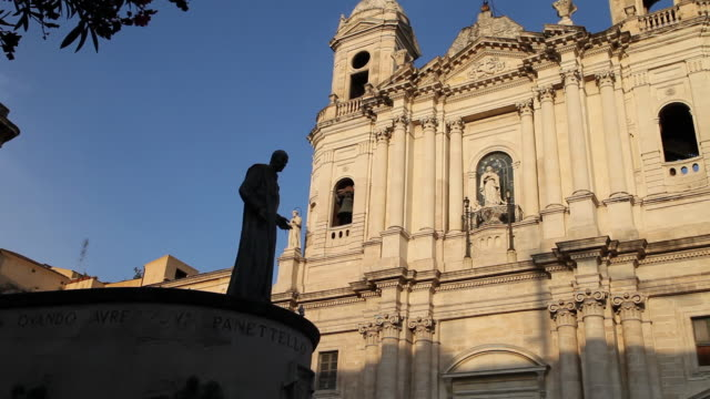 catania, piazza san francisco, monument of cardinal giuseppe benedetto dusmet - cardinal clergy stock videos and b-roll footage