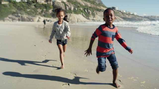 catch me if you can! - strand south africa stock videos & royalty-free footage