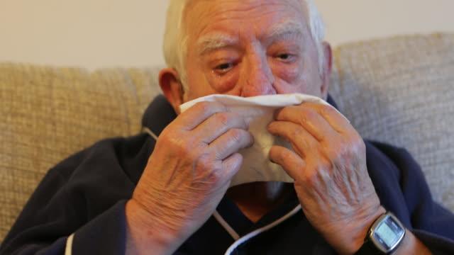 catch that sneeze - bathrobe stock videos & royalty-free footage