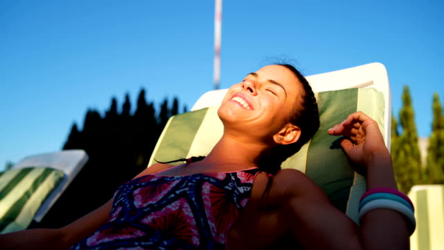 catching a sun - sunbathing stock videos & royalty-free footage