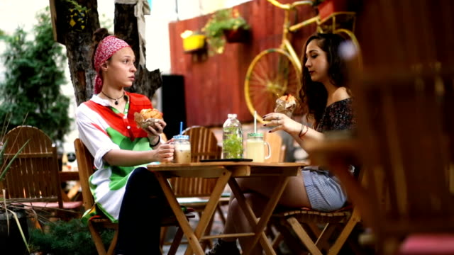 Catching Gossips At Lunch With Girlfriend