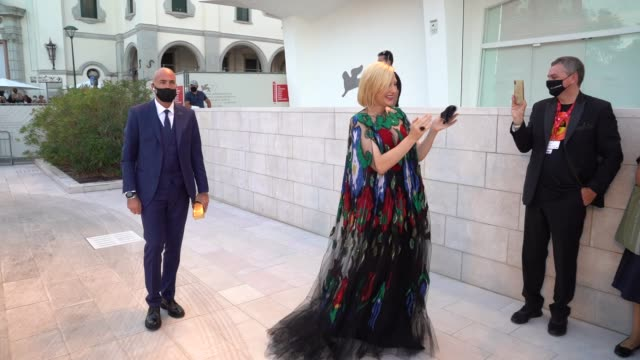 cate blanchett arrives on the red carpet ahead of the closing ceremony red carpet during the 77th venice film festival on september 12, 2020 in... - film festival stock videos & royalty-free footage