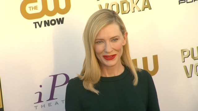 cate blanchett at 19th annual critics' choice movie awards - arrivals at the barker hanger on in santa monica, california. - critics' choice movie awards stock videos & royalty-free footage
