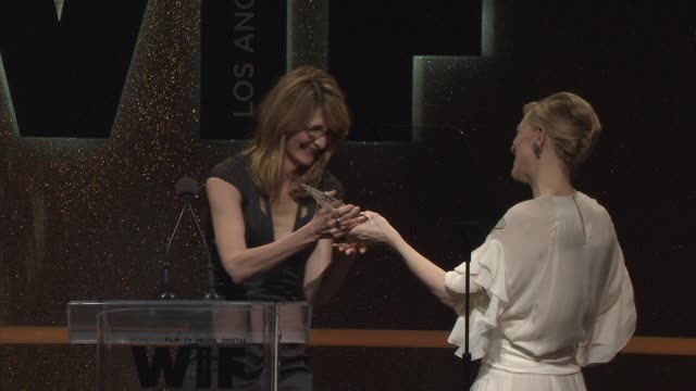 cate blanchett at 2014 women in film crystal + lucy awards presented by max mara, bmw, perrier-jouet and south coast plaza at the hyatt regency... - ケイト・ブランシェット点の映像素材/bロール
