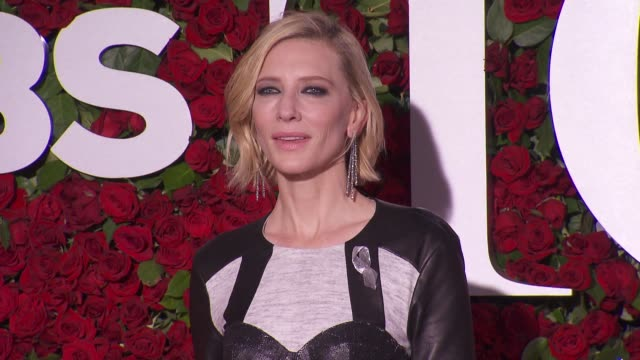 cate blanchett at 2016 tony awards red carpet at the beacon theatre on june 12 2016 in new york city - 70th annual tony awards stock videos and b-roll footage