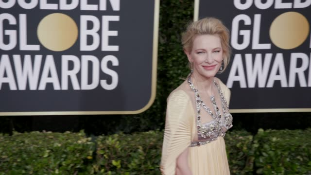 vídeos y material grabado en eventos de stock de cate blanchett at 77th annual golden globe awards at the beverly hilton hotel on january 05, 2020 in beverly hills, california. - premios de golden globe