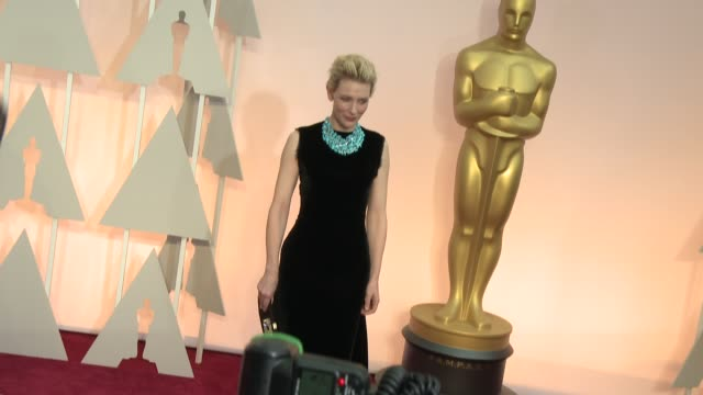 vídeos de stock e filmes b-roll de cate blanchett at 87th annual academy awards arrivals at dolby theatre on february 22 2015 in hollywood california - cerimónia dos óscares
