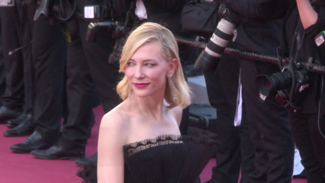 cate blanchett at 'capharnaum' red carpet arrivals - the 71st annual cannes film festival at grand theatre lumiere on may 17, 2018 in cannes, france. - ケイト・ブランシェット点の映像素材/bロール