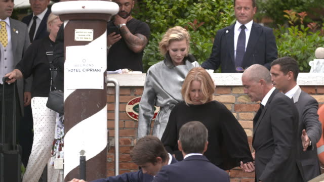 Cate Blanchett at Celebrity Sightings in Venice on August 31 2018 in Venice Italy