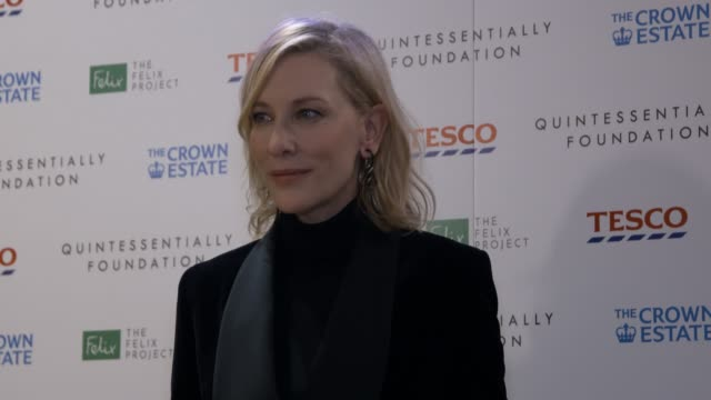 cate blanchett at fayre of st james christmas carol concert at st james old church on november 26 2019 in london england - エンタメ総合点の映像素材/bロール