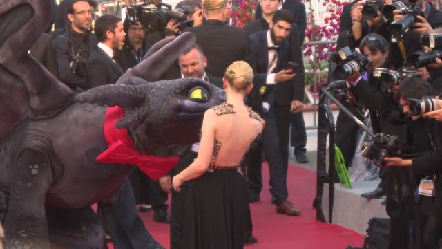 cate blanchett at 'how to train your dragon 2' red carpet at palais des festivals on may 16 2014 in cannes france - how to train your dragon stock videos & royalty-free footage