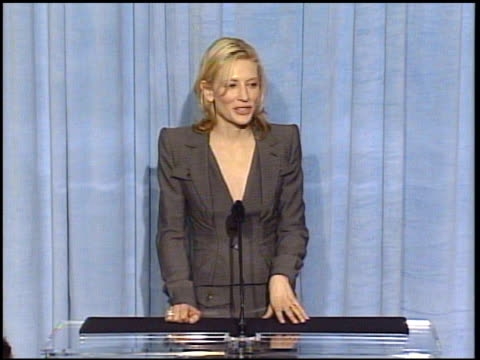 Cate Blanchett at the 2005 Annual Academy Awards Nominee Luncheon Interview Room at the Beverly Hilton in Beverly Hills California on February 7 2005