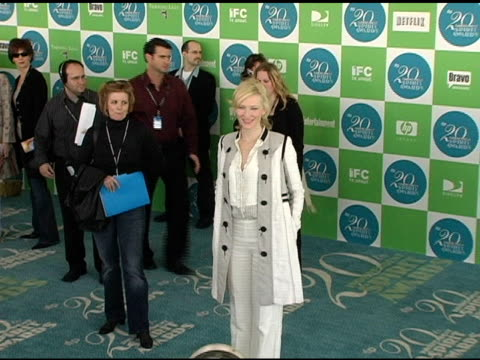 Cate Blanchett at the 20th Annual Independent Spirit Awards Arrivals and Interviews at Santa Monica in Santa Monica California on February 26 2005