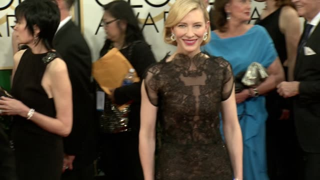 Cate Blanchett at the 71st Annual Golden Globe Awards Arrivals at The Beverly Hilton Hotel on in Beverly Hills California