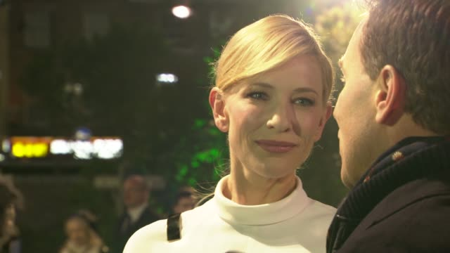 cate blanchett at 'the hobbit' uk premiere and royal film performance at odeon leicester square on december 12, 2012 in london, england. - the hobbit stock videos & royalty-free footage