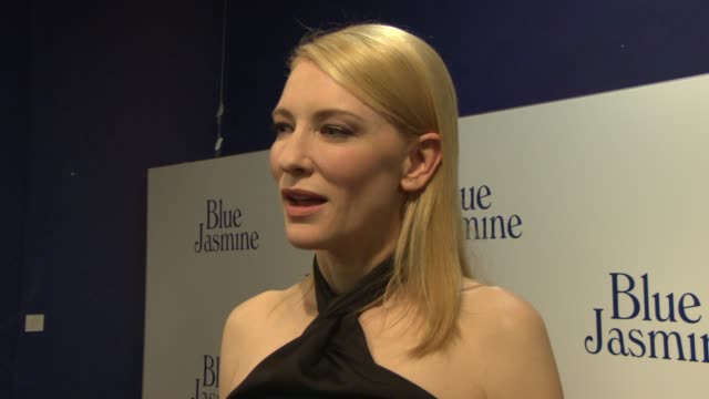 interview cate blanchett on how woody allen views women the relationships between the characters reading the script her character at 'blue jasmine'... - woody allen stock videos & royalty-free footage