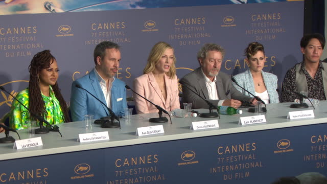 cate blanchett on if the festival is a political festival at jury press conference - the 71st annual cannes film festival on may 8, 2018 in cannes,... - 71st international cannes film festival stock videos & royalty-free footage