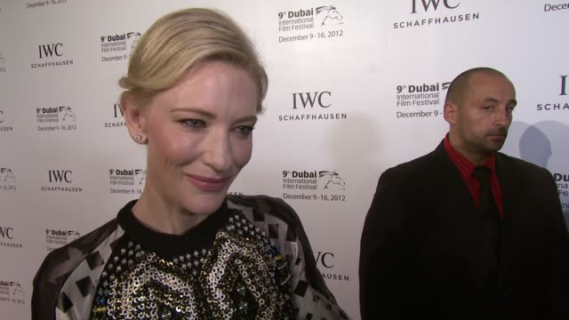 cate blanchett on judging emerging films for iwc and the honour of making the hobbit 2012 dubai international at the film festival iwc gala dinner at... - 光栄点の映像素材/bロール