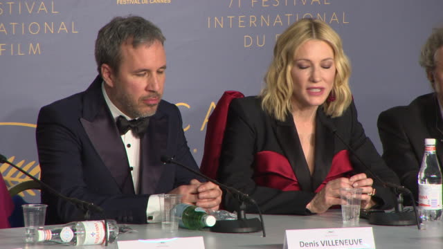interview cate blanchett on 'shoplifters' getting the palme d'or hirokazu koreeda at jurys's winners reactions cannes film festival press conference... - 71st international cannes film festival stock videos & royalty-free footage