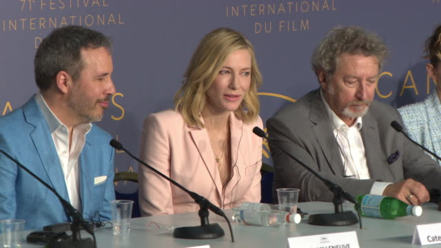 stockvideo's en b-roll-footage met interview cate blanchett on the challenges of jury judging the films at jury press conference the 71st annual cannes film festival on may 8 2018 in... - persconferentie