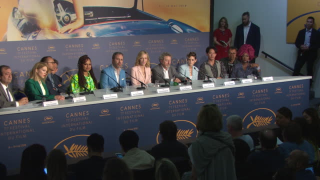 cate blanchett on the glamour of the festival at jury press conference - the 71st annual cannes film festival on may 8, 2018 in cannes, france. - 71st international cannes film festival stock videos & royalty-free footage