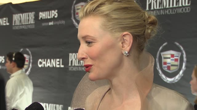 Cate Blanchett on the time it takes to make an icon at the 13th Annual Premiere Women In Hollywood at the Beverly Hilton in Beverly Hills California...