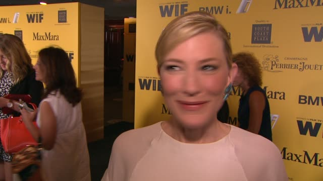 cate blanchett on what it means to receive this honor, why wif is important in today's industry and her advice for young women hoping to break into... - ケイト・ブランシェット点の映像素材/bロール