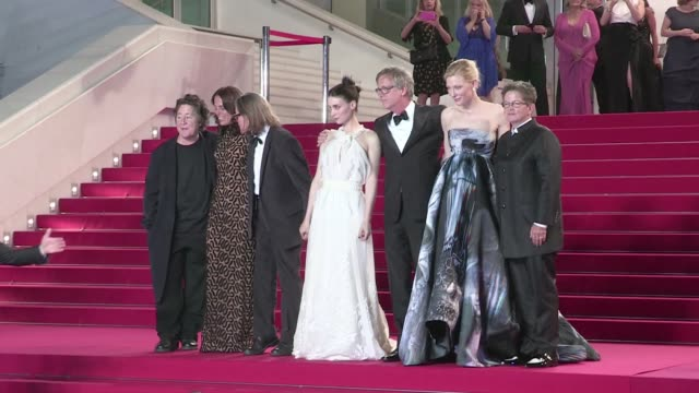 Cate Blanchett Todd Haynes and Rooney Mara going down the red carpet of Carol in Cannes during the 2015 Cannes Film Festival