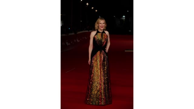 gif cate blanchett walks the red carpet ahead of the 'the house with a clock in its walls' screening during the 13th rome film fest at gif rome film... - rome film fest stock videos and b-roll footage