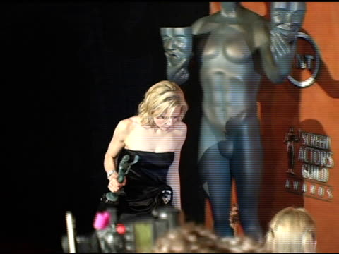 Cate Blanchett winner for Outstanding Female Actor in a Supporting Role for 'The Aviator' at the 2005 Screen Actors Guild SAG Awards Photo Room at...